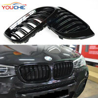 Glossy Black Front Hood Kidney Grille for BMW X3 F25 X4 F26 Bumper Grill 2014-18