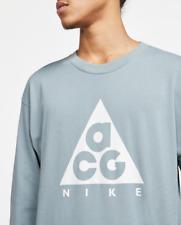 Nike ACG Long Sleeve Logo Tee Aviator Grey T-Shirt BQ3457-041 Size L XL
