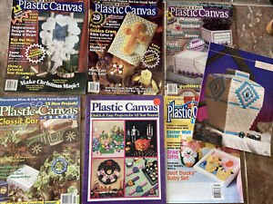 Plastic Canvas Lot Crafts Halloween Southwest Easter Floral Classic Car Tissue