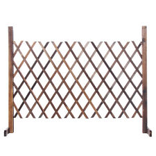 Expanding Fence Wooden Barrier Screen Gate Pet Dog Patio Garden Lawn Portable ❤