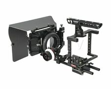 CAME-TV DSLR Rig Cage Camera Follow Focus Handle w/ HDMI Clamp for 5D/7D/GH3/A7S