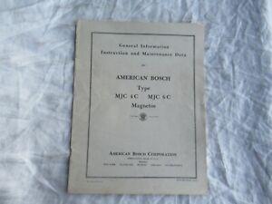 1941 American Bosch MJC 4C 6C magnetos instruction maintenance data manual