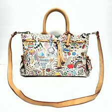 DOONEY & BOURKE Women's Medium Multi Color Signature Satchel Crossbody Handbag