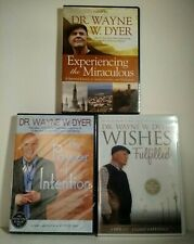 Wayne W Dyer 3 DVD Lot Power of Intention, Experiencing the Miracles, Wishes NEW