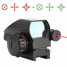 Holographic Reflex 4 Reticle Red Green Dot Laser Sight Scope Picatinny Rail 20mm