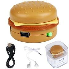 NEW Hamburger Support 32GB Mini MP3 Player USB Micro SD TF Card With headphone