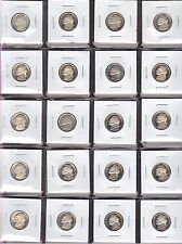 HALF ROLL 1982-S CHOICE PROOF JEFFERSON NICKELS ( 20 COINS )