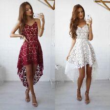 Women Lace Summer Sleeveless Short Mini Dress Evening Cocktail Party Dresses WR