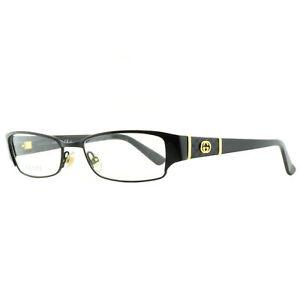 Gucci GG 2910 65Z Black Rectangular Optical Frames Eyeglasses