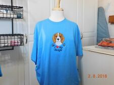 NEW I LOVE MY BEAGLE  EMBROIDERED T-SHIRT ADD NAME FOR FREE
