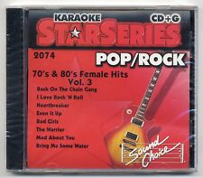 SOUND CHOICE KARAOKE SC-2074 70's & 80's, NEW FACTORY SEALED STAR SERIES CDG OOP