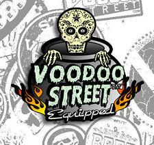 HOT ROD SUGAR SKULL FINK STICKER BY VOODOO STREET™