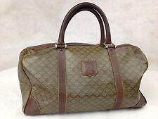 Auth CELINE Macadam Pattern Boston Hand Bag 5E059860*