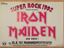 IRON MAIDEN  1992  MANNHEIM  orig: CONCERT POSTER  --  KONZERT PLAKAT  A1