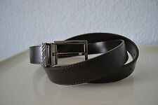 Burberry Plain Leather BRIAR 30DN 30MM Belt Brown Size 36(90)  Made in Italy
