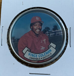 Vince Coleman #28 St Louis Cardinals MLB  Coin 1987 Topps