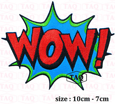 Wow iron sew on patch comic novelty batman embroidered badge applique  # 050