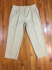 Tommy Bahama Mens Stretch Pleated Front Khaki Chino Pants TAG 40 Fits 38W x 28L