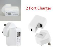 2 Port Mains Charger for Apple iPad 4 Air 2 mini 2, iPhone 5 5s 6 6 plus *Offer*