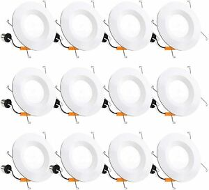100 W Equivalent, 5/6-Inch Recessed Downlight, Dimmable LED, CRI90 5000K - 12 Pk