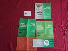 N°8963 / 4 tarifs SNCF 1973-1976 +services autocars