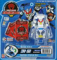 TURNING MECARD W KAOWL blue Transformer Transforming CAR OWL Robot Toy Korean TV