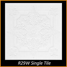 Ceiling Tiles Glue Up Styrofoam 20x20 R29 White Pack of 8