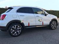 Strisce in Acciaio Nero/Lucido Minigonne FIAT 500X 4 pezzi specifici stampati-