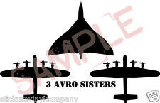 3 Avro Sisters Lancasters & Vulcan  Car Decal/Sticker  **XH558**Thumper**Vera**