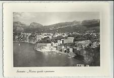 VECCHIA CARTOLINA DI SORRENTO marina grande e panorama 70545