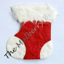 25 Stockings stocking Boots Handmade Mulberry Paper St Nick fireplace Christmas