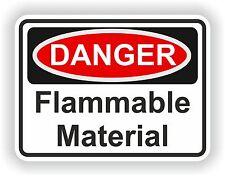 Danger Flammable Material Sticker Warning Danger Vinyl Car Motorcycle Helmet Gas