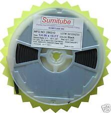 "1/4"" x 15 feet Sumitube B2 Polyolefin HEAT SHRINK TUBE TUBING BLACK  .250 IN"