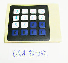 Grayhill 88-052, 4 x 4 Keyboard Legend Replacement Overlay, New Old Stock