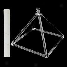 Bols Chantant Pyramide en Crystal de Quartz Pur 8.1 '' D Note avec Maillet