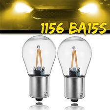 2x 1156 BA15S P21W COB Yellow LED Turn Signal Light Reverse Backup Lamp Bulb 12V