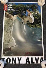 Autographed Tony Alva Vans Poster Z Flex Skateboards Dogtown Zephyr Jay Adams