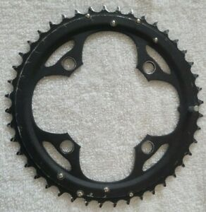 Vuelta 44T Large Alloy Chainring for Double/Triple Chainring 4 Bolt 104BCD