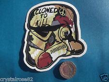 Star Trooper Cloned To Kill Graffiti Helmet Vinyl Sticker Decal