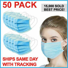 Face Mask Mouth And Nose Respirator Safe Protector 50 PCS Packs
