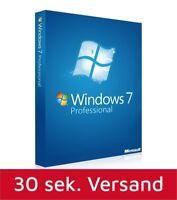 Windows 7 Professional 32-64 Bit SP1 Deutsch OEM Vollversion Win 7 Pro Schlüssel