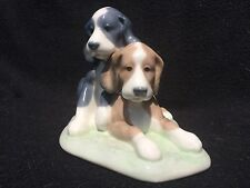 Nao porcelain dog puppies figurine
