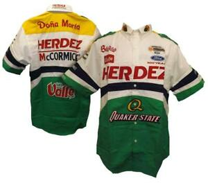 New Herdez Quaker State Dona Maria Mens Size S Small Button Up Racing Shirt