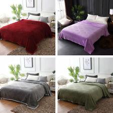 Flannel Embossed Warm Throws Blanket Summer Autumn Bedding  Bedspread Blanket