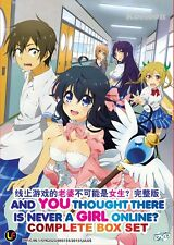 DVD Japan Anime And You Thought There Is Never A Girl Online (1-12 End) Eng Sub