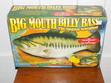 Big Mouth Billy Bass Singing Wall Fish in Box! Works!