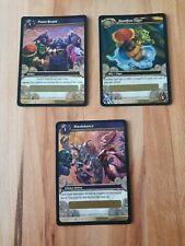 WoW TCG - 3x Loot-Karten Beutekarten - Paint Bomb + Slashdance + Sandbox Tiger
