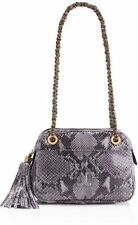 NEW Tory Burch Thea Chain-Strap Shoulder bag/messenger bag-Gray Snakeskin