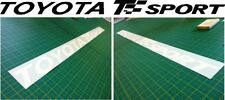 Toyota Corolla Yaris T Sport windscreen stickers graphics decals