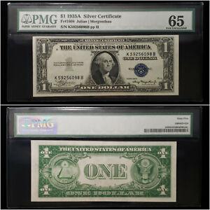1935-A $1 Silver Certificate Fr#1608 PMG 65 Gem Uncirculated - No Reserve